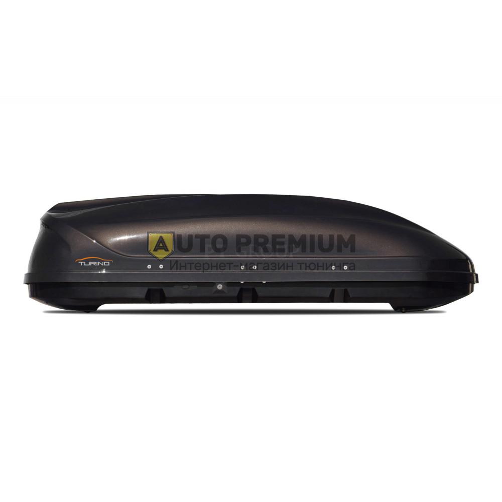 Автобокс на крышу Черный Turino 1 LUX (410 л) Аэродинамический на крышу автомобиля