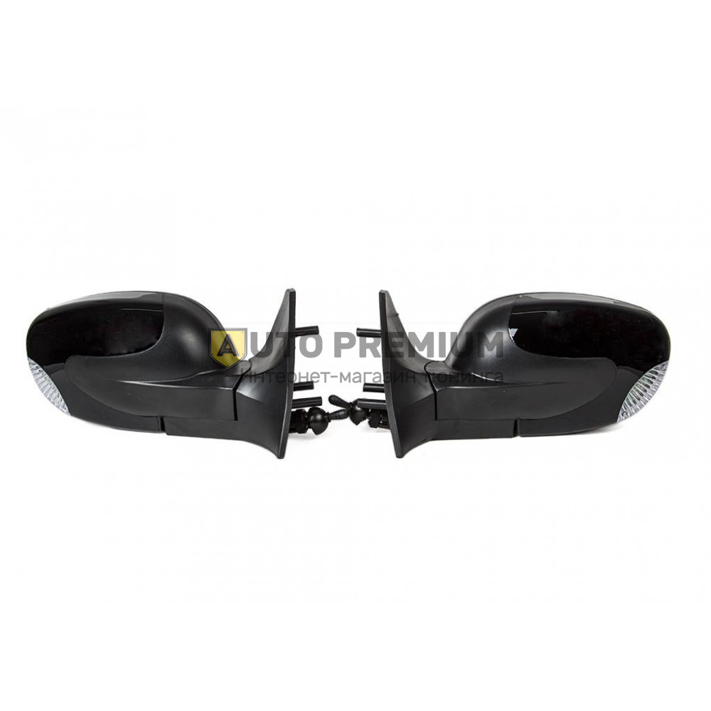 Боковые зеркала «Волна» черные c повторителями на ВАЗ 2108-2115