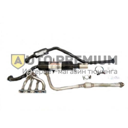 Выпускной комплект ВАЗ 2108-09-099 8v 1.5л, глушитель с насадкой